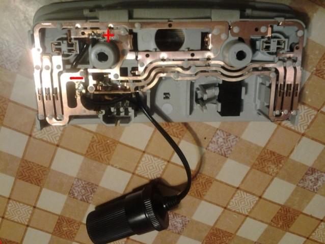 подключение видеорегистратора к плафону освещения